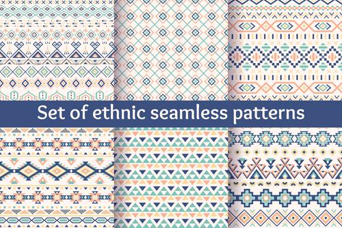 Ethnic ornament pattern seamless vector 02