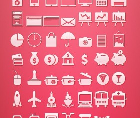 Finance and transport icons set