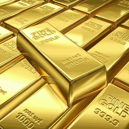 Fine Gold bullion design vector set 02