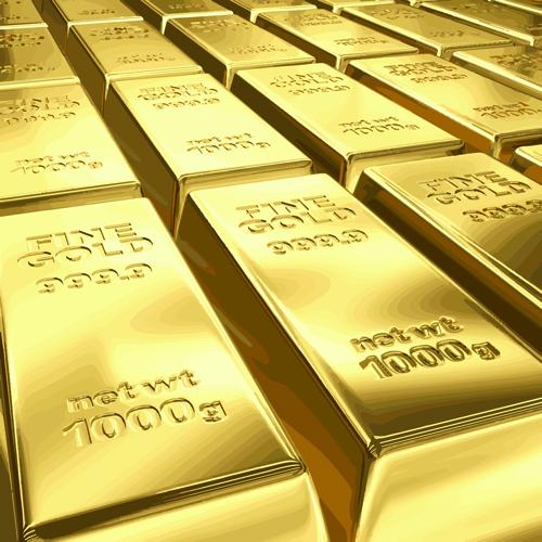 Fine Gold bullion design vector set 03