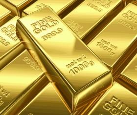 Fine Gold bullion design vector set 04