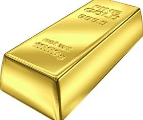 Fine Gold bullion design vector set 05