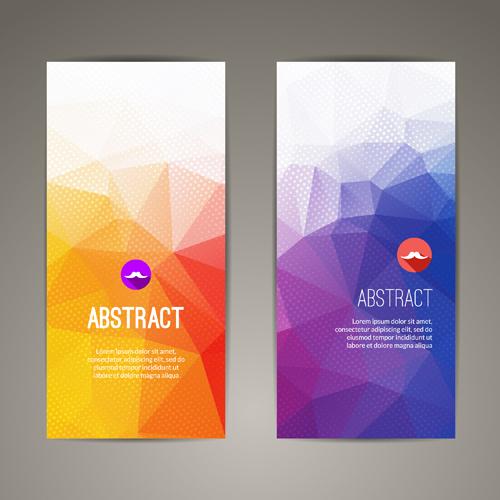 geometric shapes cover brochure vectors 04 free download