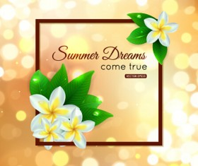 Halation summer art background vector 02