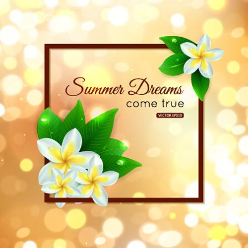 Halation summer art background vector 02