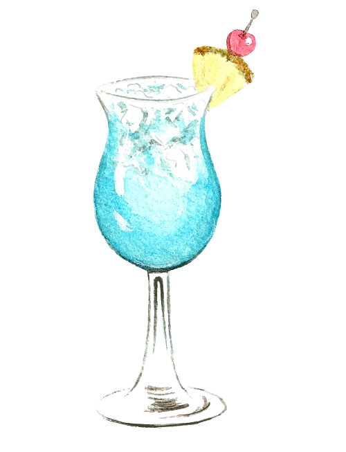 Hand Drawn Cocktail Watercolor Vector Material 06 Vector