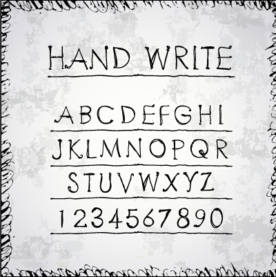 Hand Drawn Fonts Creative Vector 01