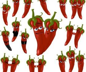 Hot chili peppers funny cartoon vectors 02