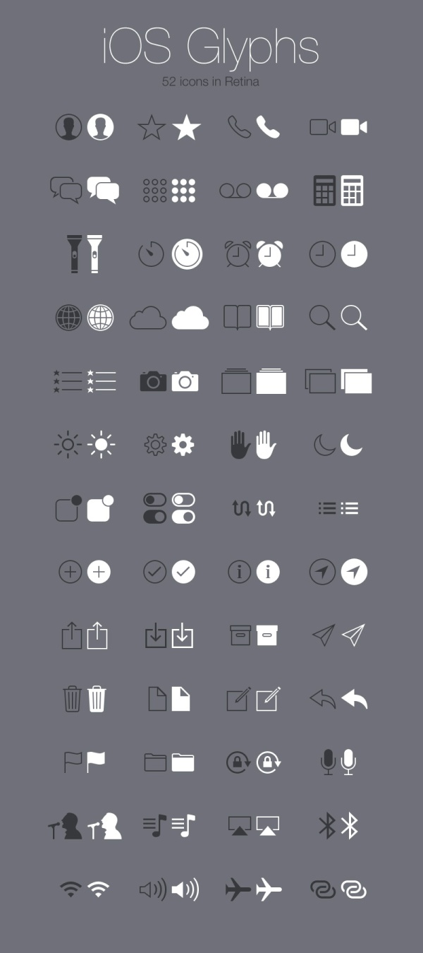 IOS System free icons PSD material