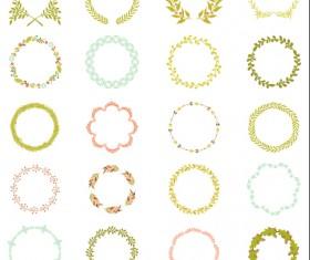Laurels with wreaths frames vectors