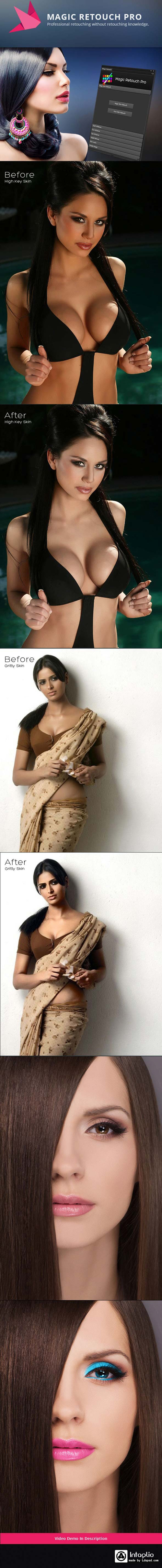Magic Retouch skin Photoshop Action free download