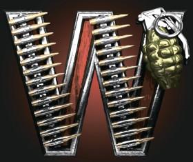 Metal alphabet with bullet and grenade vectors set 23