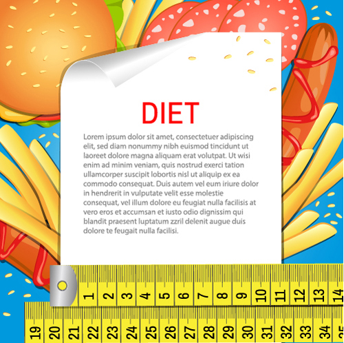 Modern fast food poster material vector 02