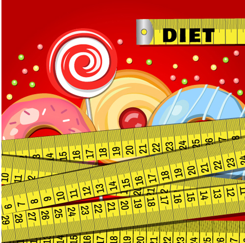 Modern fast food poster material vector 03