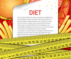 Modern fast food poster material vector 04