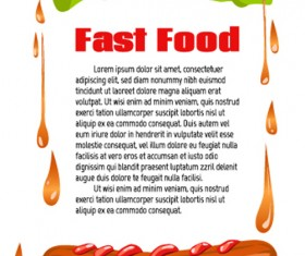 Modern fast food poster material vector 06