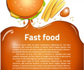 Modern fast food poster material vector 09