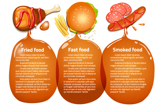 Modern fast food poster material vector 15