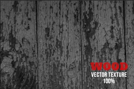 Old wooden texture art background vector set 16