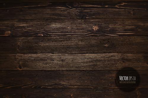 Old wooden textures backgrounds vector set 03