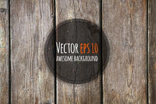 Old wooden textures backgrounds vector set 05