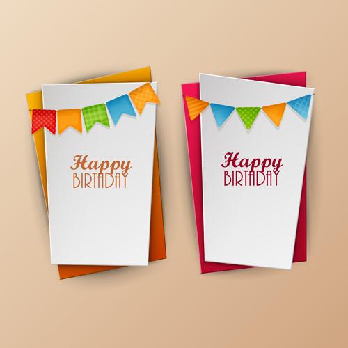 Paper birthday banner vector design - Vector Banner, Vector ...