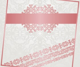 Pink frame with floral background vector