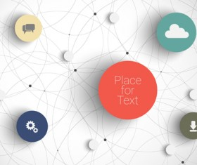 Place network infographics template vectors 01