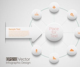 Place network infographics template vectors 04