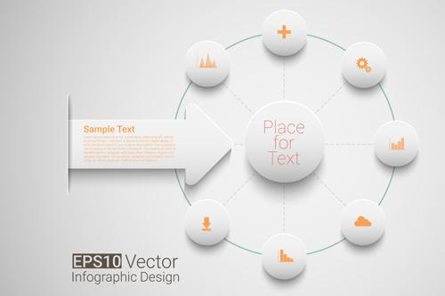 Place network infographics template vectors 04