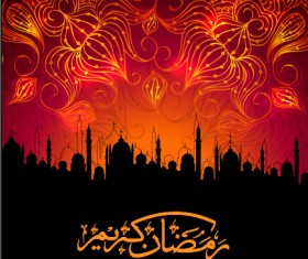 Ramadan kareem Eid vector background 02