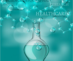 Science with healthcare infographic template vector 05