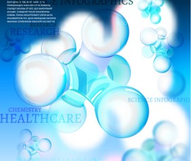 Science with healthcare infographic template vector 06
