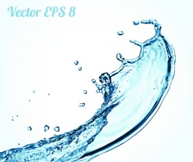 Splash blue water vector background 07