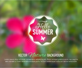 Summer flower with blurred background vector 02