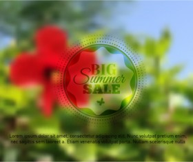 Summer flower with blurred background vector 03