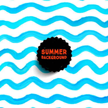 Summer watercolor pattern vector material 06