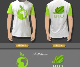 T-shirt front and back creative design vector set 01