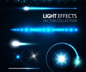 Tech light effects vector design 03