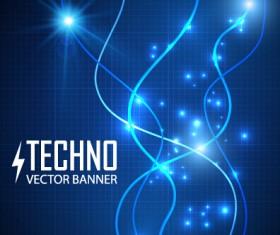 Tech light effects vector design 04