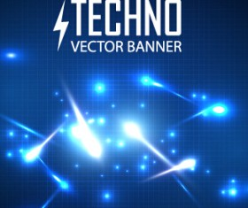 Tech light effects vector design 05