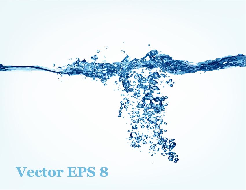 Transparent water splash effect vector background 10