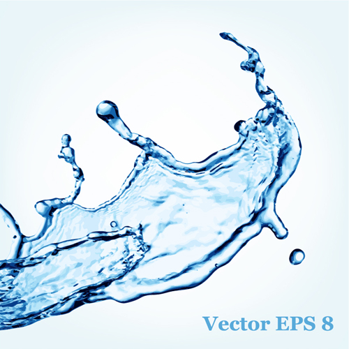 Transparent water splash effect vector background 15