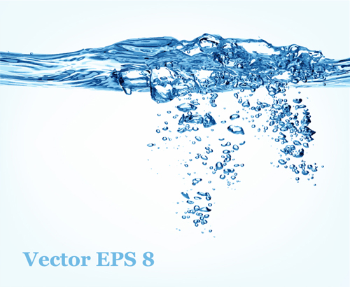 Transparent water splash effect vector background 20