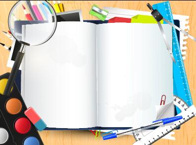 Vector background school elements illustration 04 free ...
