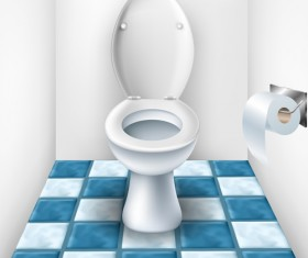 Vector toilet design elements set 01