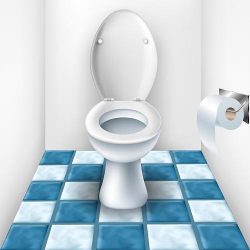 Vector toilet design elements set 01
