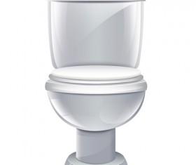 Vector toilet design elements set 02