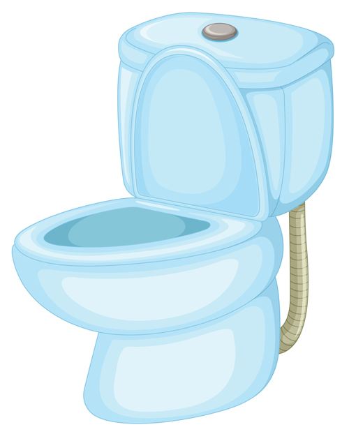 Vector toilet design elements set 03