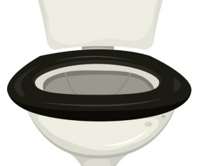Vector toilet design elements set 04